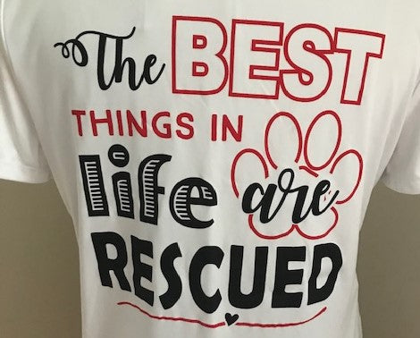 Noah's Arks Rescue Products, T-Shirts, White 100% Poly