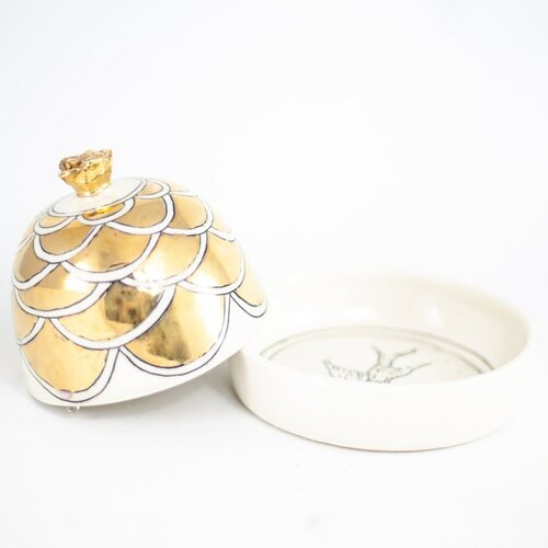HOPE + MARY Golden Domed Butter Dish
