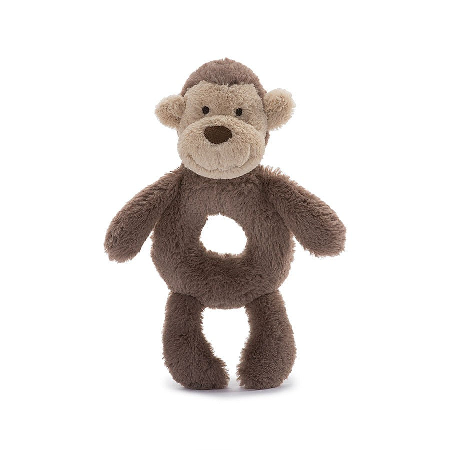 JellyCat Bashful Soft Monkey Grabber Rattle