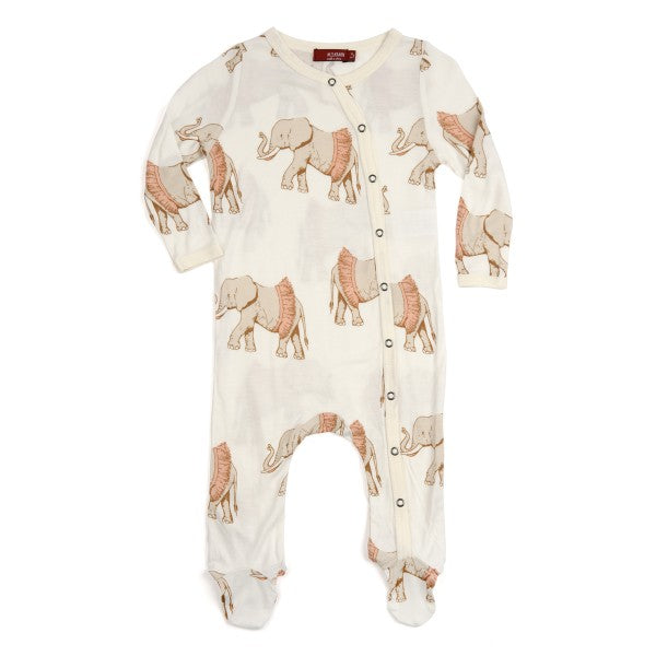Milkbarn Footed Romper Organic Cotton Tutu Elephant