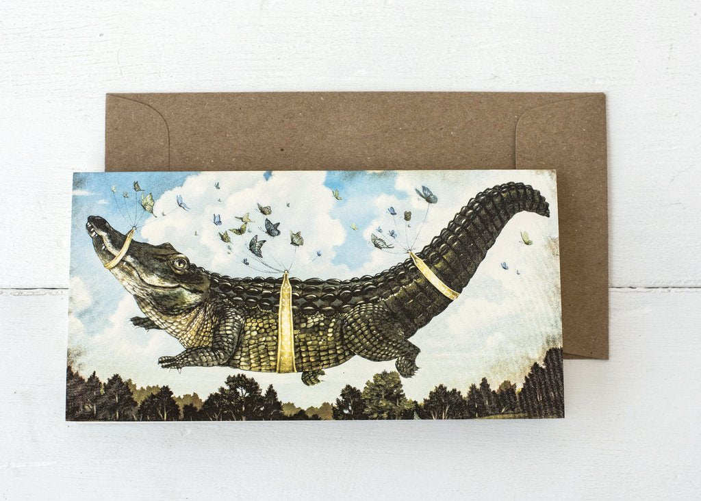 Hester & Cook Alligator's Big Day Blank Card