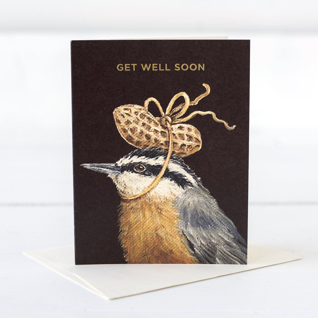 Hester & Cook Get Well Peanut Blank Card