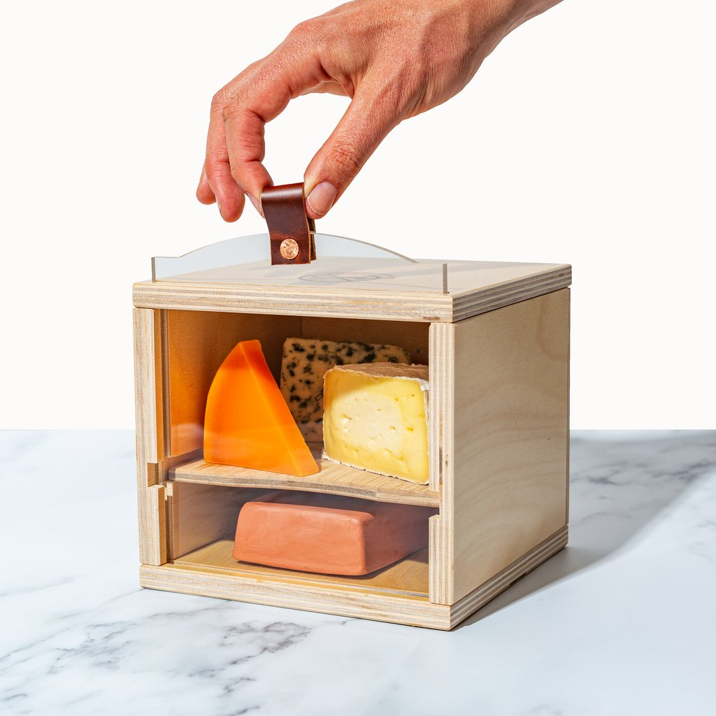 Cheese Grotto Piatto with Bamboo Serving Shelf