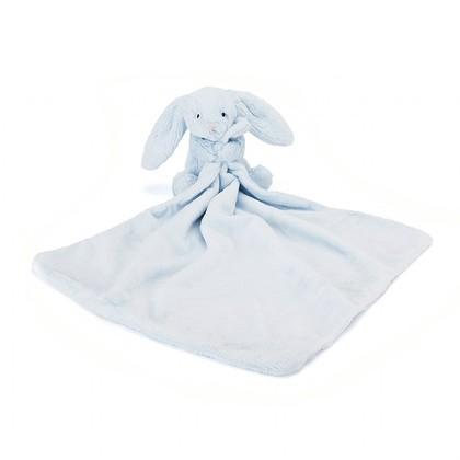 JellyCat Bashful Soft Bunny Blue Soother, 13""