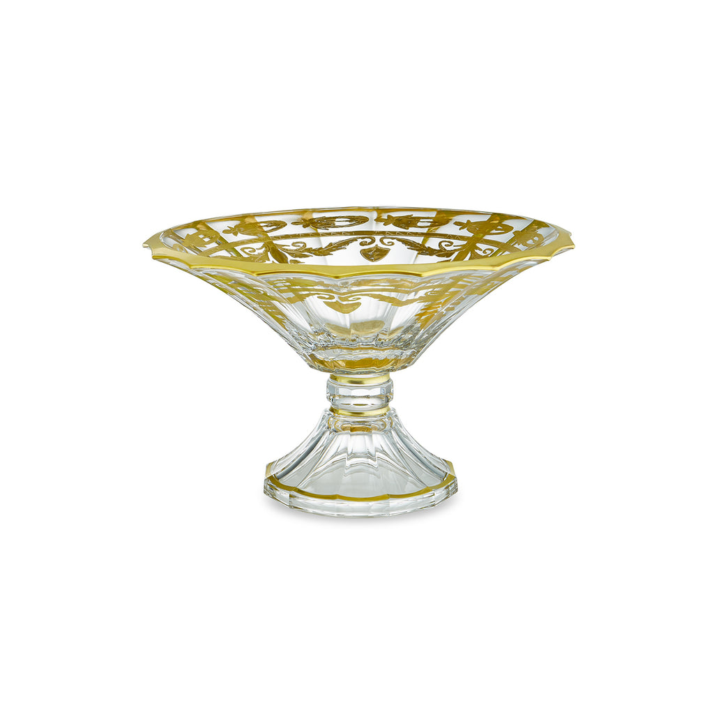 Arte Italica -  Vetro Gold Scalloped Footed