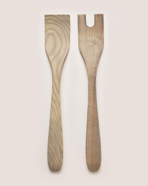 Farmhouse Pottery - Crafted Salad Servers, Grey