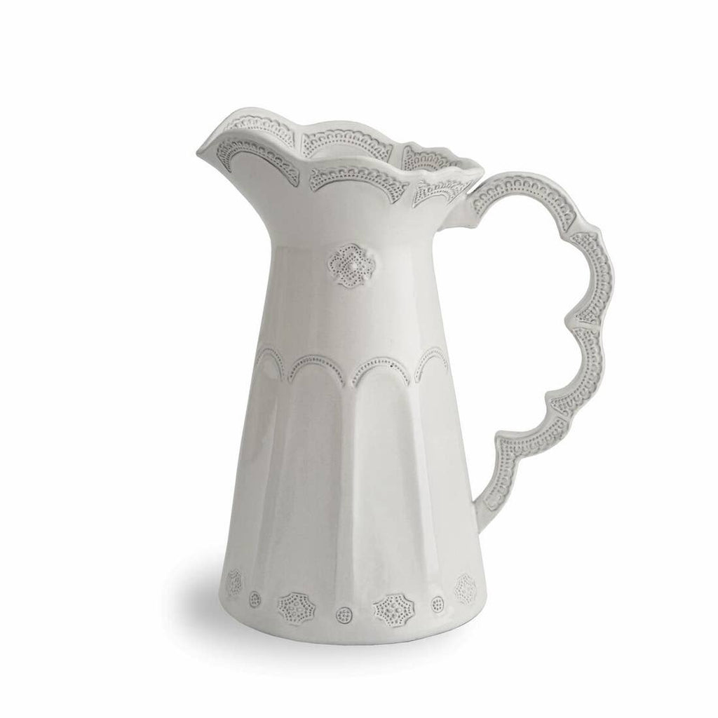 Arte Italica -  Merletto Antique Scalloped Pitcher