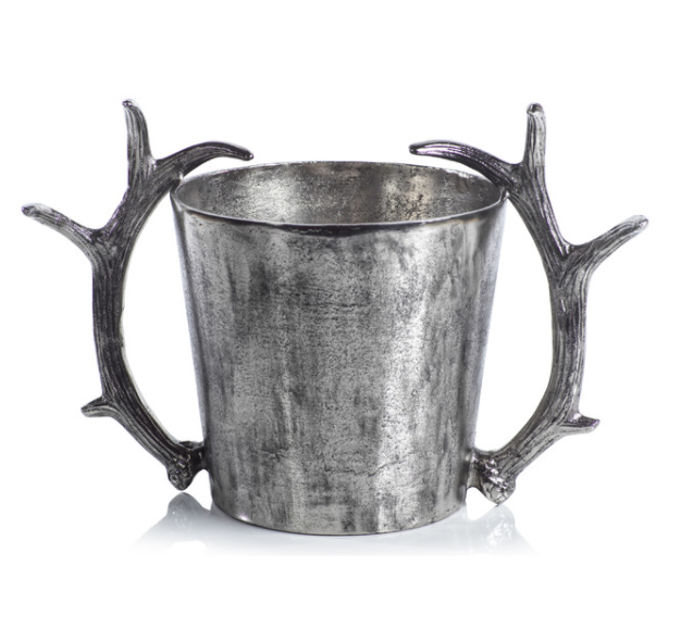 Zodax - Ice Bucket / Wine Cooler With Antler Handles