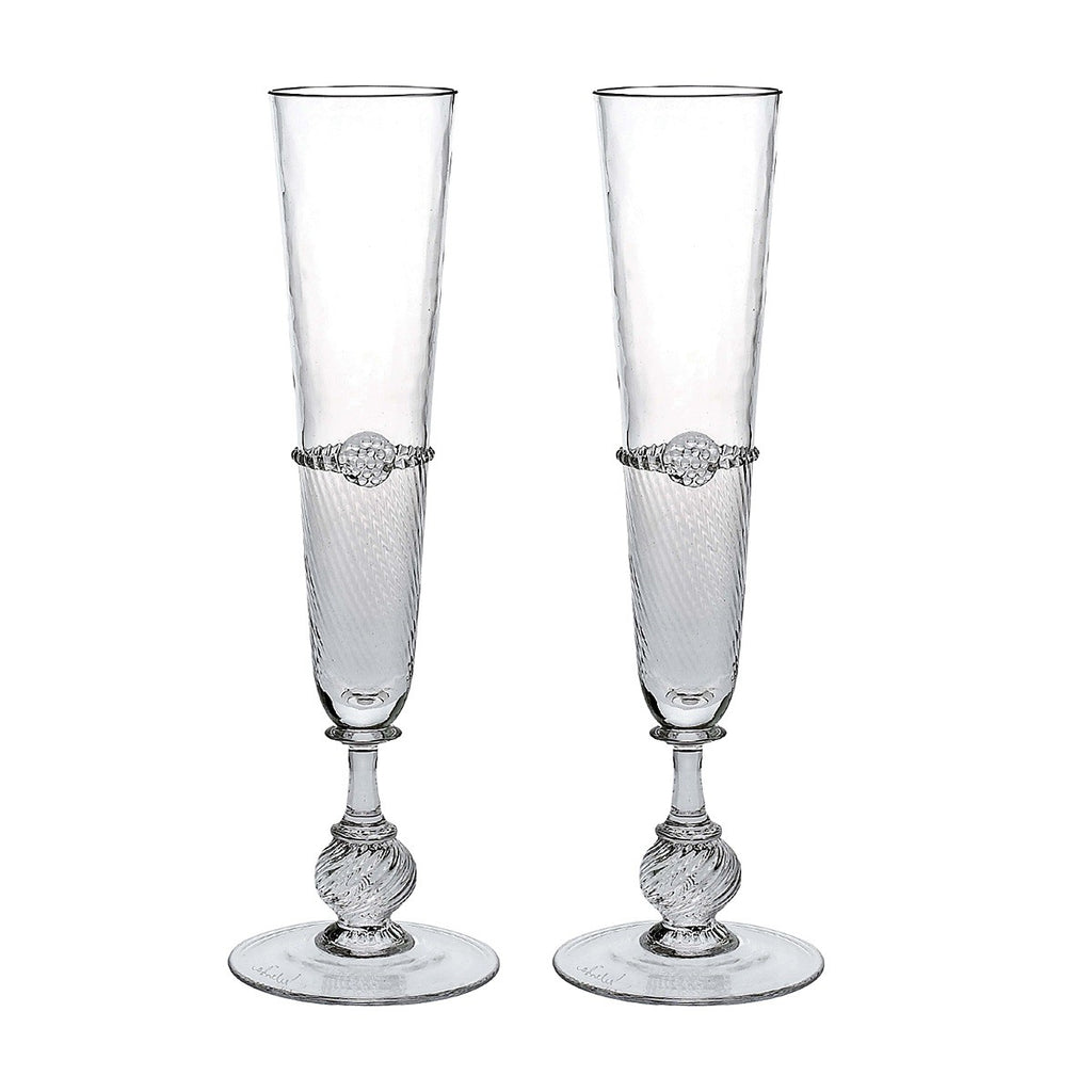 Juliska Graham Champagne Flutes Set of 2