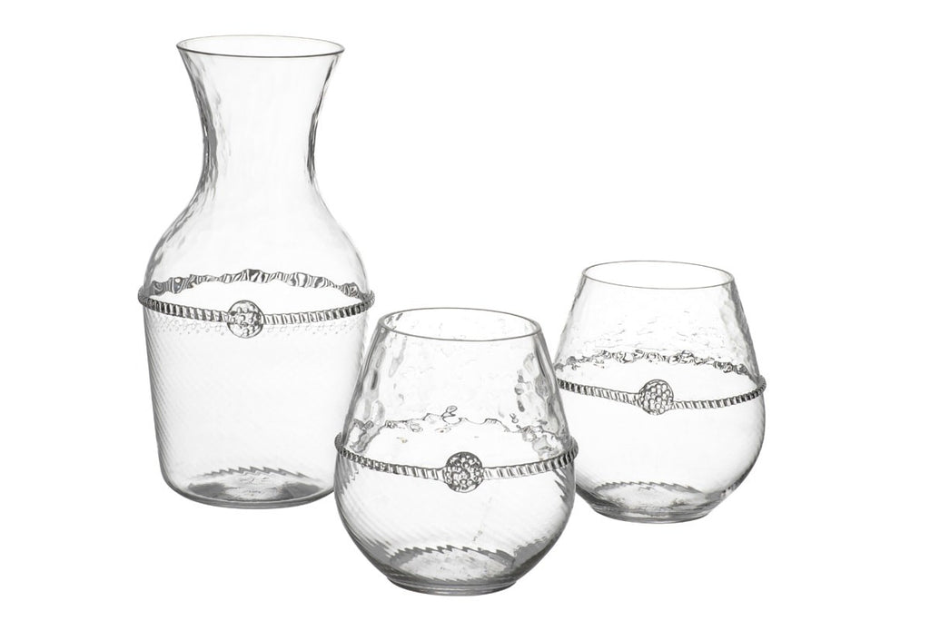 Juliska Graham Carafe + 2 Stemless Red Wine Gift Set