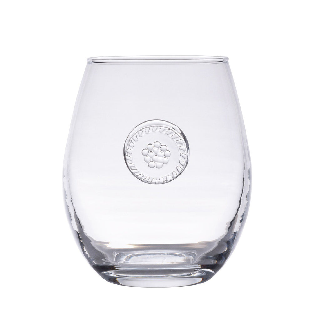 Juliska Berry & Thread Stemless White Wine Glass