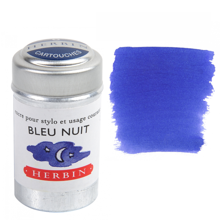 J. Herbin -Herbin Fountain / Rollerball Pen Ink Cartridges - Tin of 6