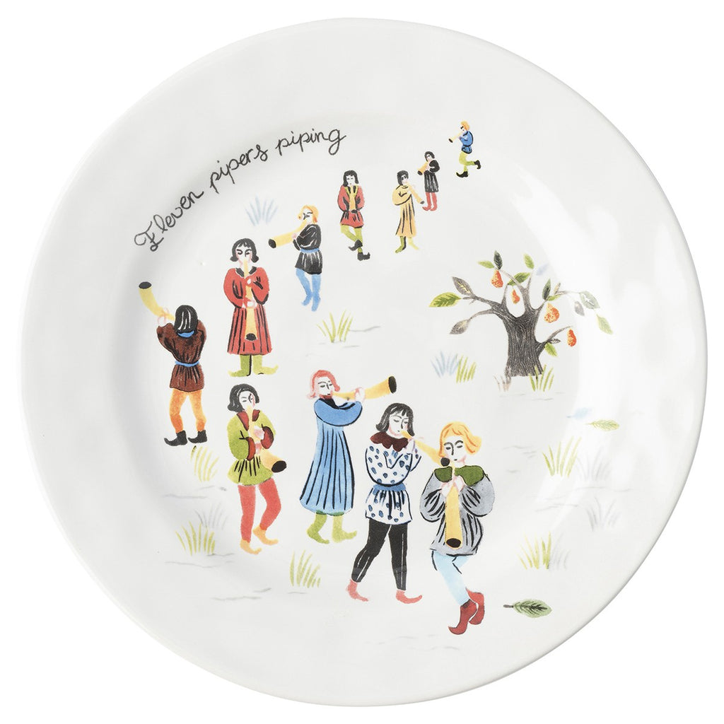 Juliska, Twelve Days of Christmas Dessert/Salad Plates, set of 12