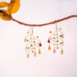 Chuang Yi Gallery - Multi-Stone Branch Earrings