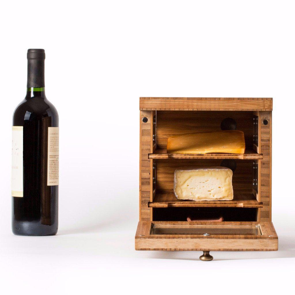 Cheese Grotto Classico with Bamboo Shelf Servers