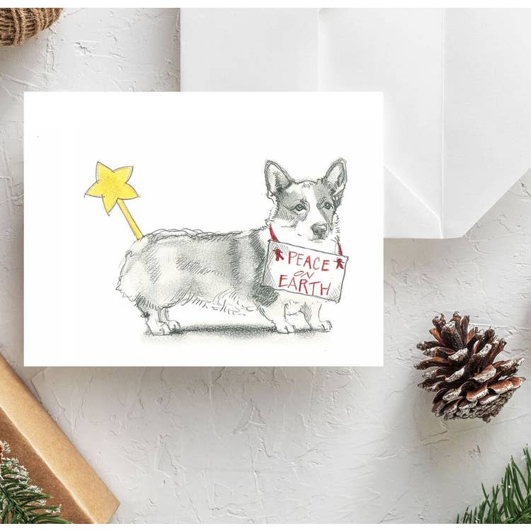 Fable & Sage Cards - Corgi Holiday Cards