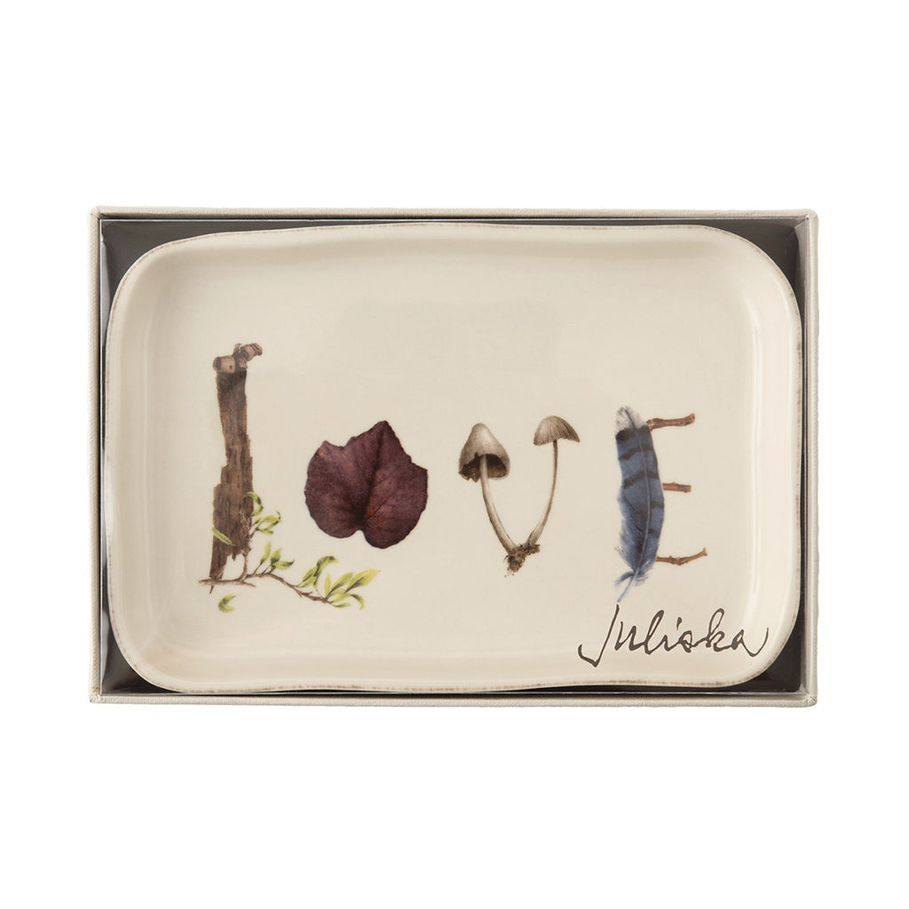 Juliska Forest Walk Gift Tray, Love