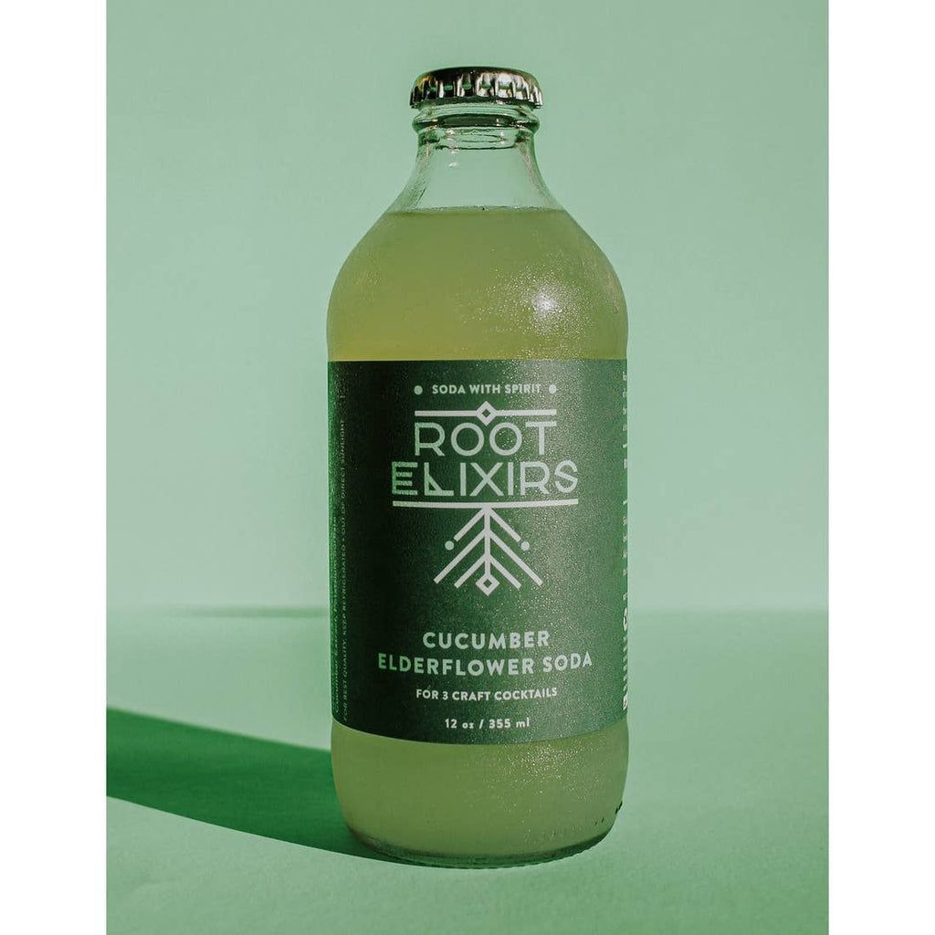 Root Elixirs Cucumber Elderflower Soda