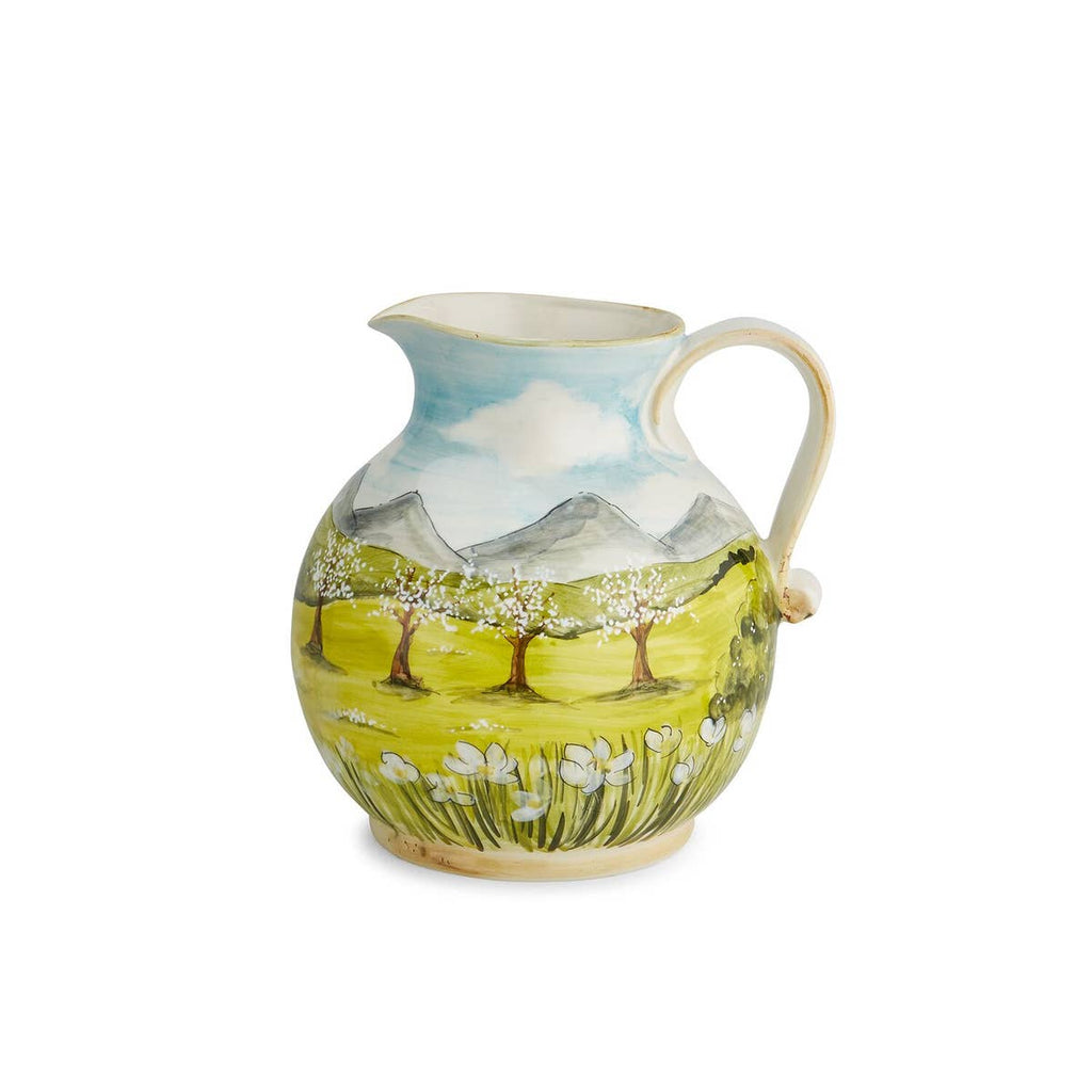 Arte Italica - Toscana Pitcher with White Blossoms