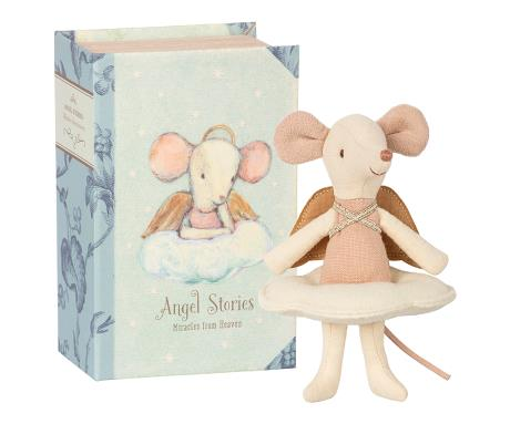Maileg - Angel Mouse, Big Sister Book