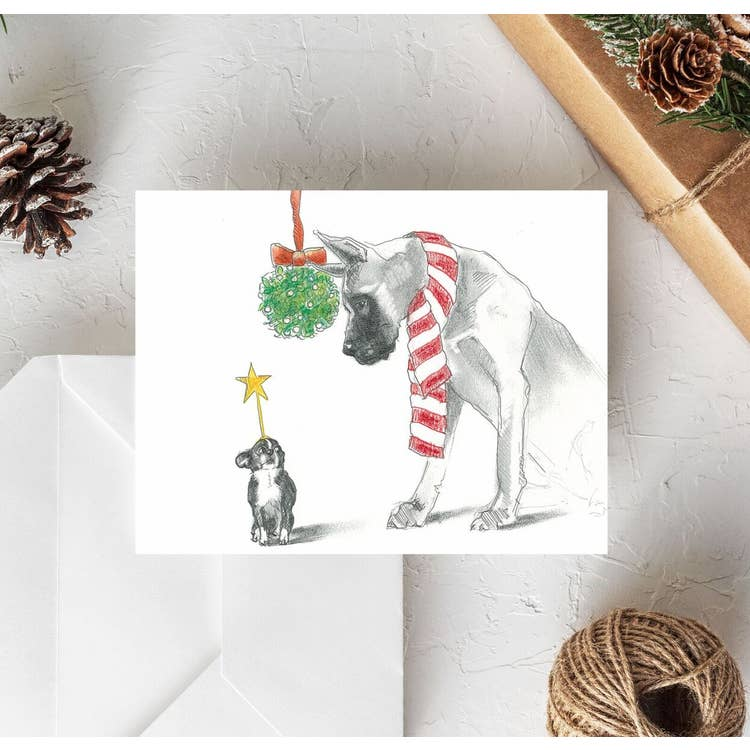 Fable & Sage Cards - Great Dane & Chihuahua Holiday Cards