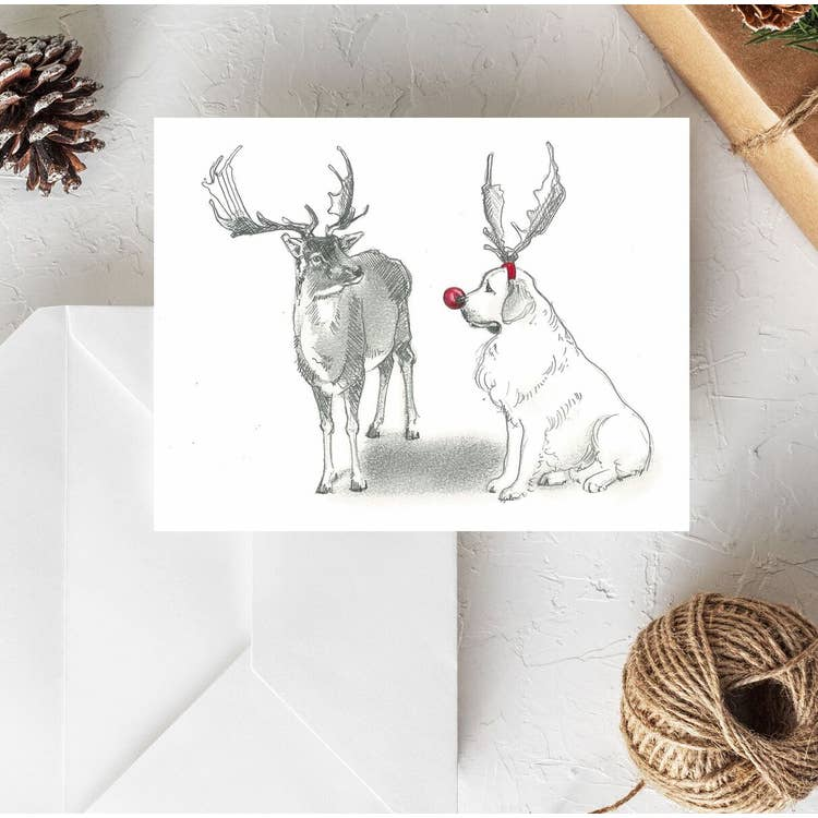 Fable & Sage Cards - Great Pyrenees Holiday Cards