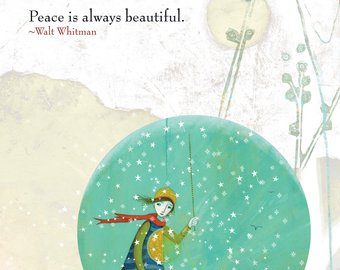 Sacred Bee Card No. 330 Beautiful Peace