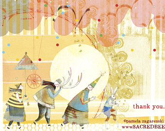 Sacred Bee Card No. 476 Thank You Dance