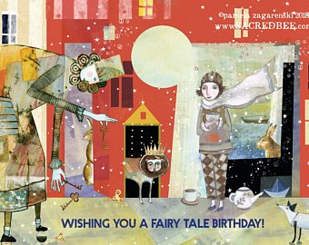 Sacred Bee Card No. 467 Fairy Tale Birthday