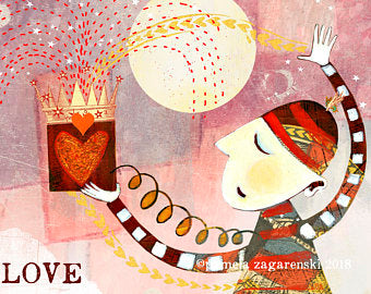 Sacred Bee Card No. 489 Love