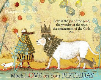 Sacred Bee Card No. 426 Birthday Love