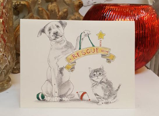 Holiday Cards - A Rescue Wish, set of 10