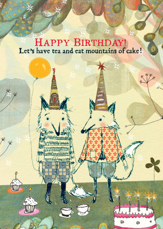 Sacred Bee Card No. 437 Tea & Cake birthday