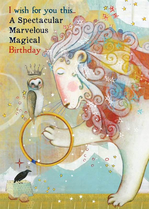 Sacred Bee Card No. 428 Magical Marvelous birthday