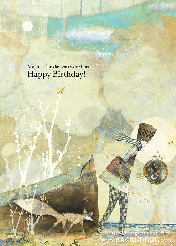 Sacred Bee Card No. 180 Magic birthday