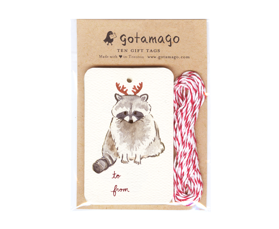 Gotamago - Antler Raccoon Tags