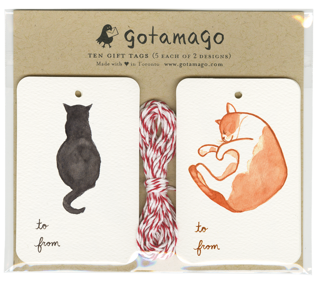 Gotamago - Reading Cat Tags