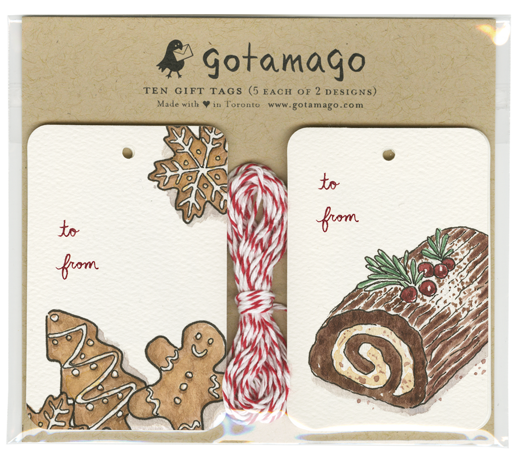 Gotamago - Holiday Treats Gift Tags