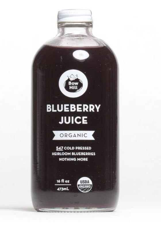 Bow Hill Blueberries - Cold Pressed Organic Blueberry Juice