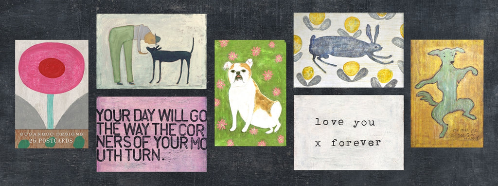 Sugarboo Designs - Art Collection Post Card Booklet - 25 pack