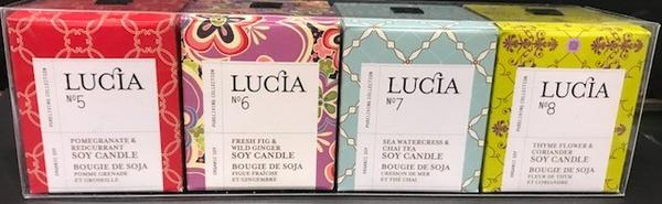 Lucia, Assorted Travel Size Candle Sets Fragrance 5-8