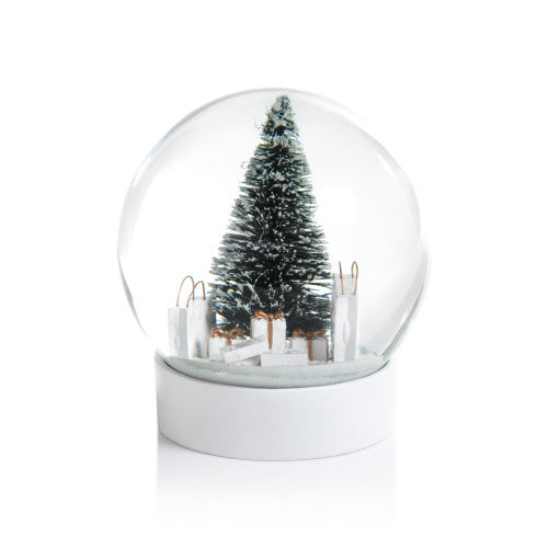 Zodax - Snowglobe with Pine Needle Tree and Gift Bags