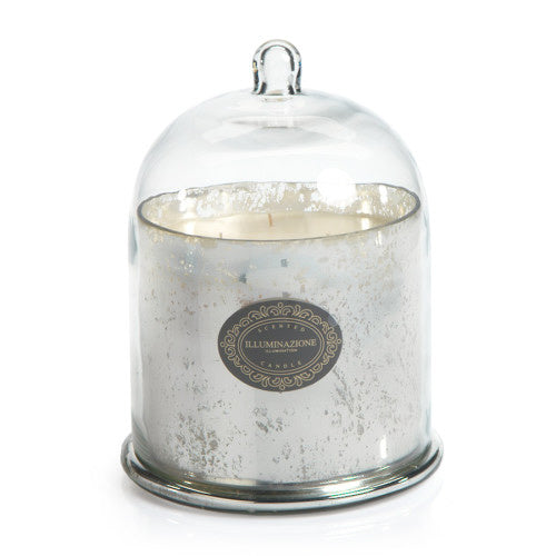 Zodax Candle Jar with Dome, Antique Silver w/ French Red Currant, Large