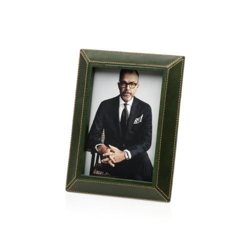 Zodax - Green Leather Photo Frame