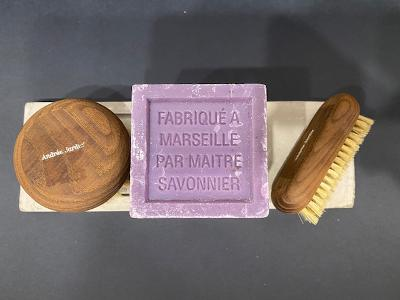 Andrée Jardin Brushes (2) with Soap Dish and French Soap