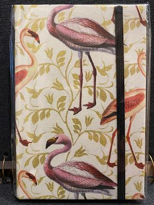 Rossi Mini Notebook w/ Elastic Closure - Flamingos