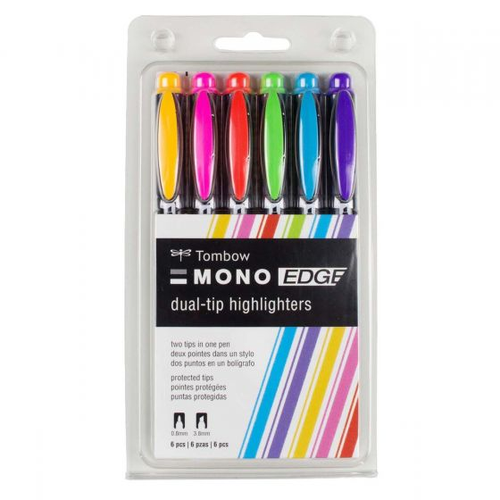 Tombow - MONO Edge Highlighter - 6 Pack