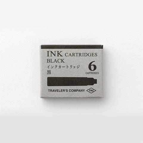 Traveler's Company - Brass Fountain Pen Ink Cartridges - Black
