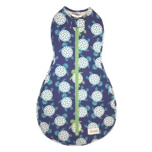 Woombie Original Swaddle - Blue/Green Turtle 0-3 months