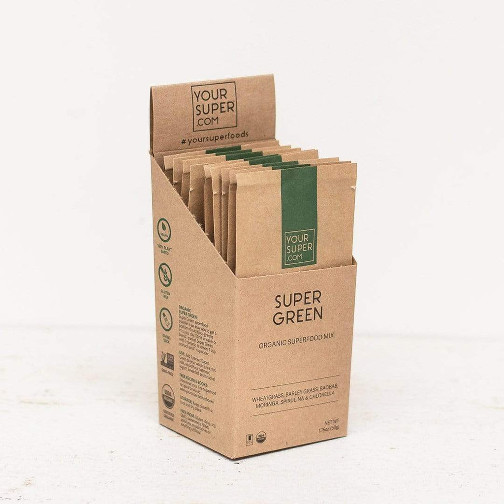 Your Super.Com - Super Green Organic Superfood Mix - Travel Pack